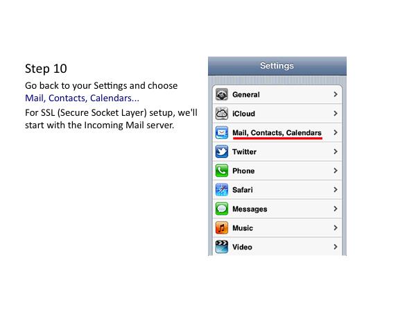 iOS Email Settings: Apple iPhone, iPad and iPod