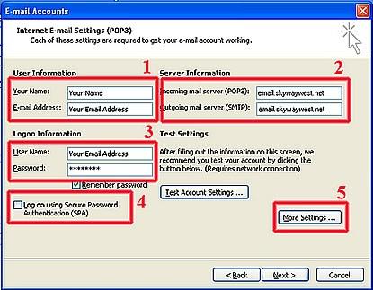Outlook Mail setup - Step 1