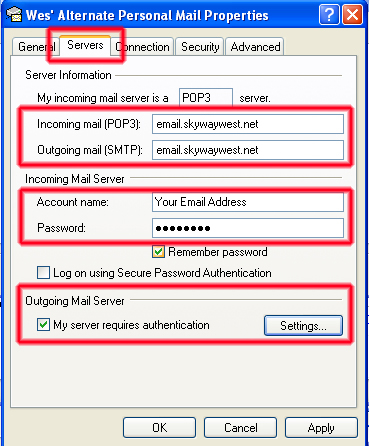 Outlook Express Email Setup Insecure